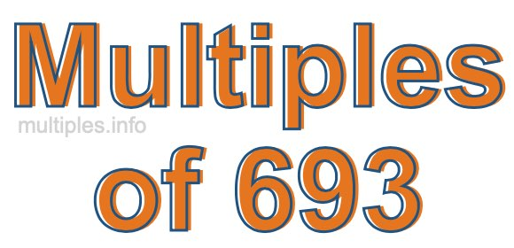 Multiples of 693