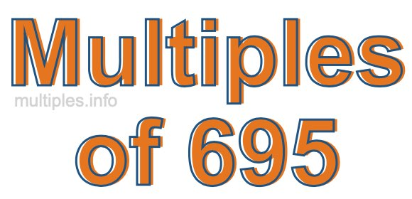 Multiples of 695