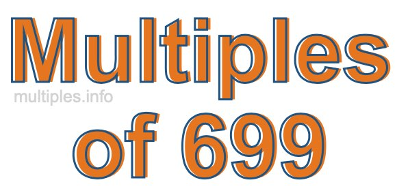 Multiples of 699