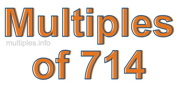 Multiples of 714