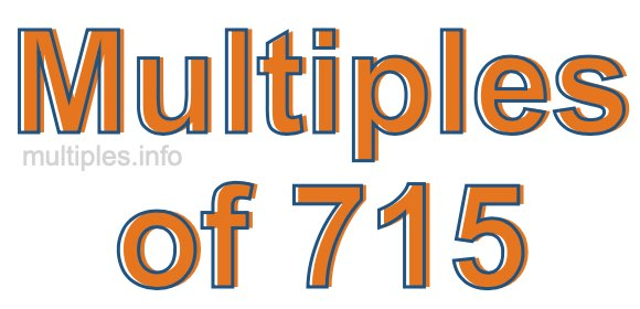 Multiples of 715