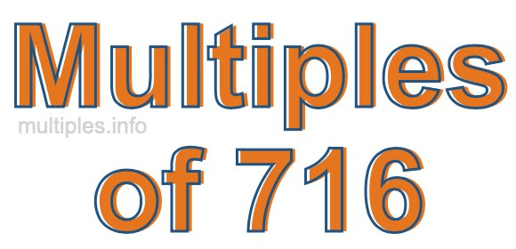 Multiples of 716