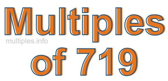 Multiples of 719