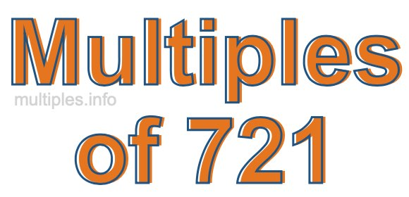Multiples of 721