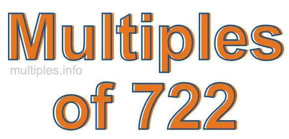 Multiples of 722
