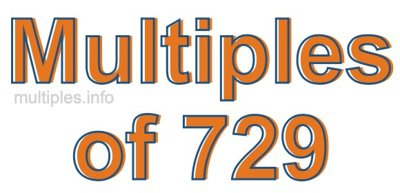 Multiples of 729