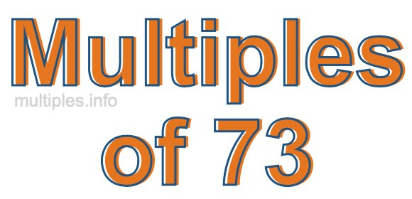 Multiples of 73