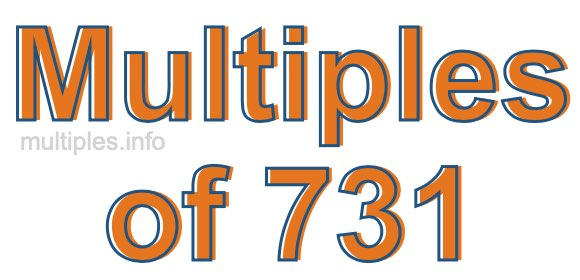 Multiples of 731