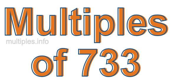 Multiples of 733