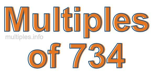 Multiples of 734
