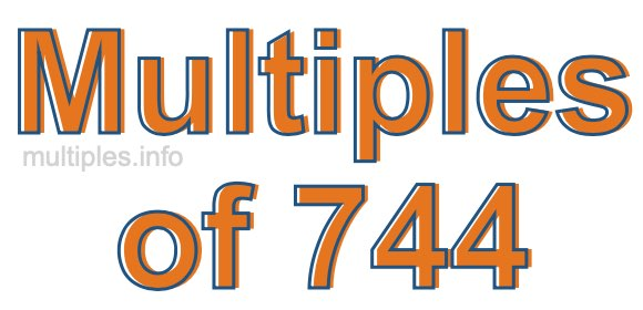 Multiples of 744