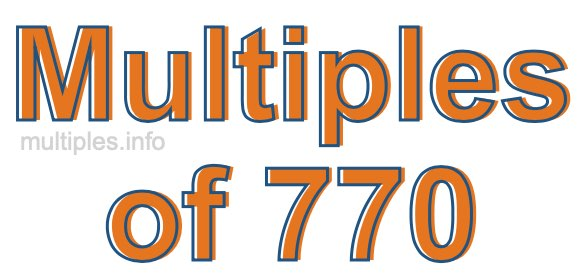 Multiples of 770
