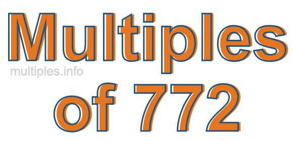 Multiples of 772