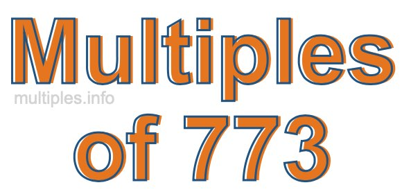 Multiples of 773