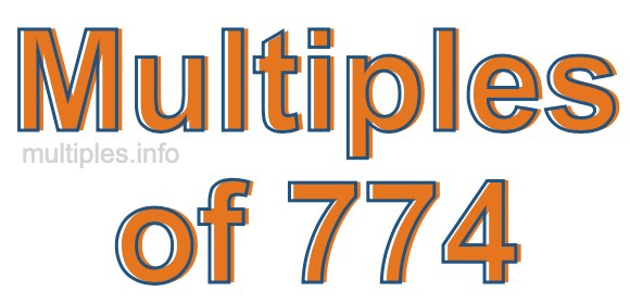 Multiples of 774