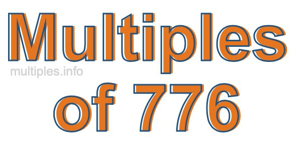 Multiples of 776