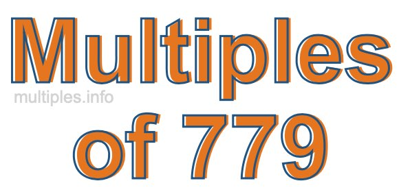 Multiples of 779