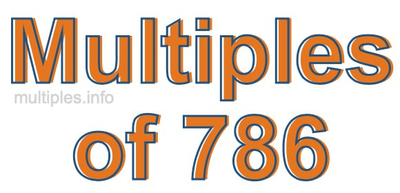 Multiples of 786