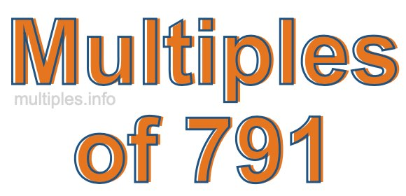 Multiples of 791