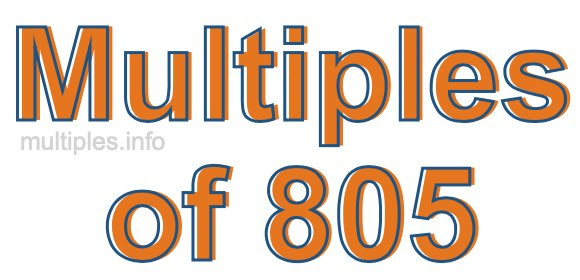 Multiples of 805