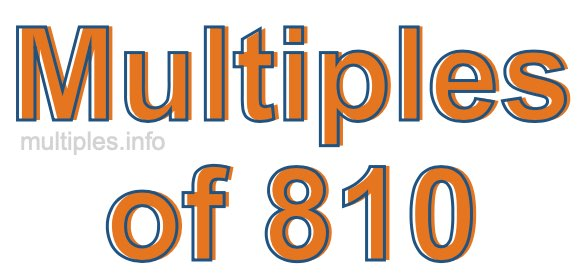Multiples of 810