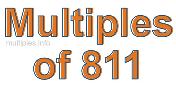 Multiples of 811