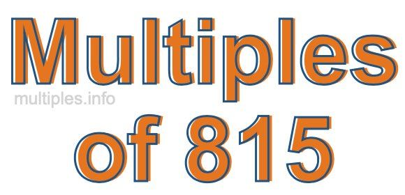 Multiples of 815