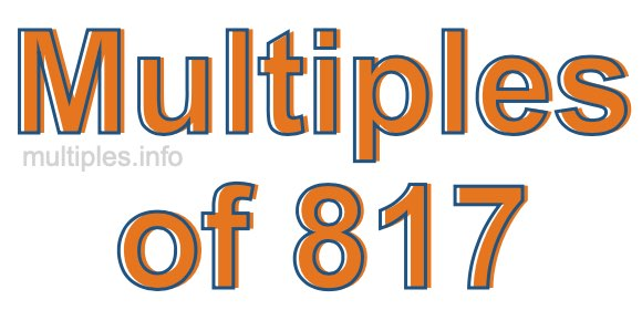 Multiples of 817
