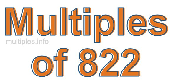 Multiples of 822