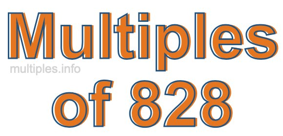 Multiples of 828