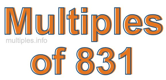 Multiples of 831