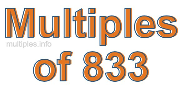 Multiples of 833