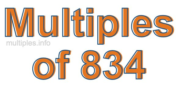 Multiples of 834