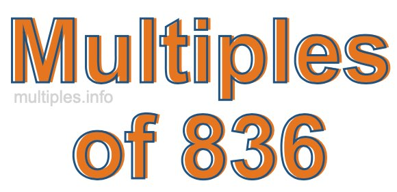 Multiples of 836