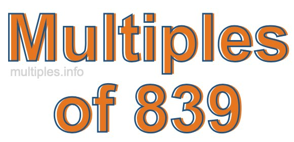 Multiples of 839