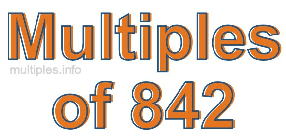 Multiples of 842