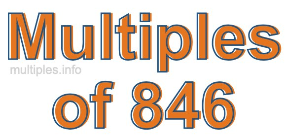 Multiples of 846
