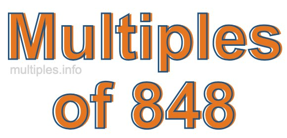 Multiples of 848