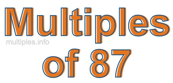 Multiples of 87