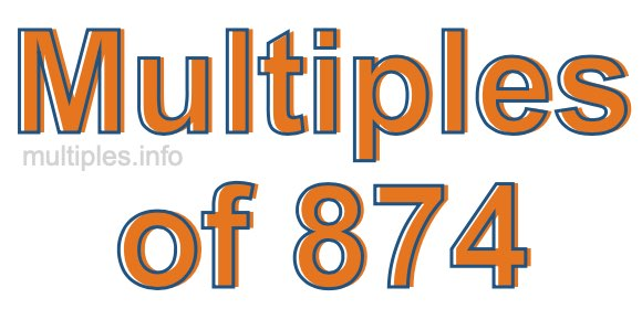 Multiples of 874