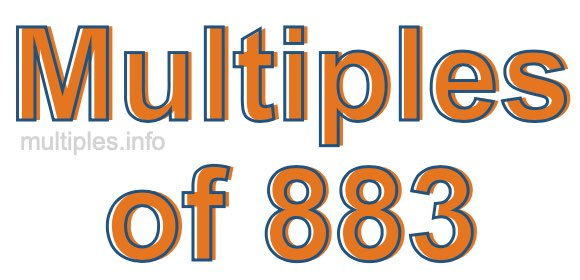 Multiples of 883