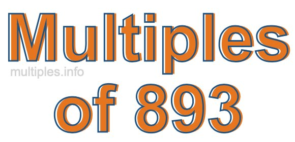 Multiples of 893