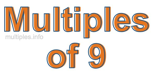 Multiples of 9