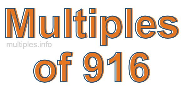 Multiples of 916