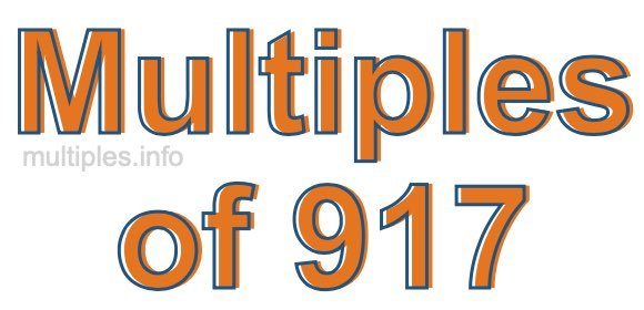 Multiples of 917