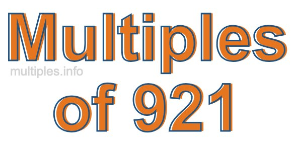Multiples of 921