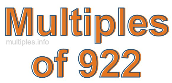 Multiples of 922