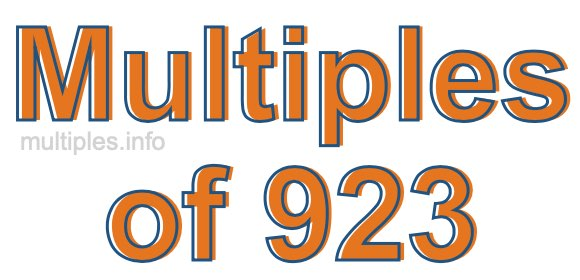 Multiples of 923