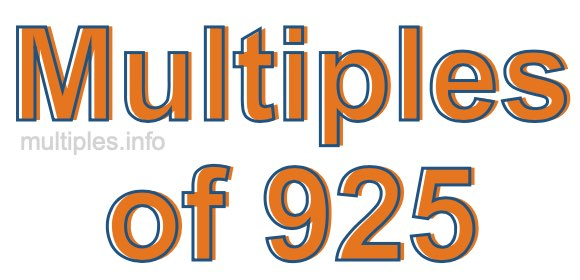 Multiples of 925