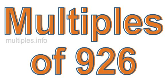 Multiples of 926